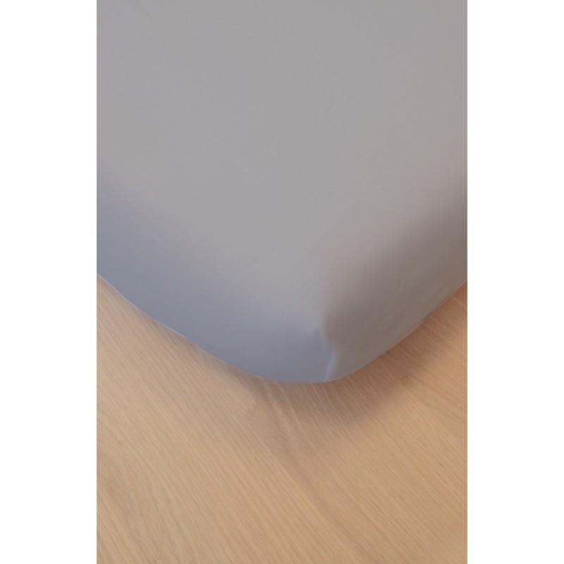 Drap housse coton bio 60 x 120 cm Gris clair