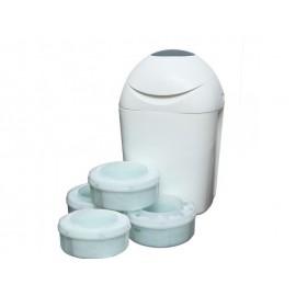 Poubelle à couches TEC blanc + 4 recharges