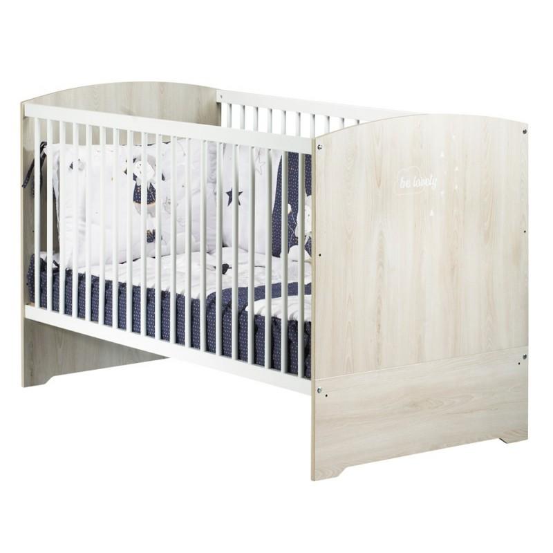 Lit évolutif Little big bed Smile Hêtre 70 x 140 cm