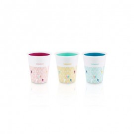Lot de 3 gobelets Multicolores Fun cups