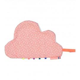 Doudou nuage attache-sucette Nelly rose