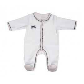 Pyjama Miss Chipie en velours Blanc 0M