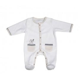 Pyjama Timouki en velours Blanc 3M