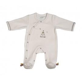 Pyjama Timouki en velours Beige 3M