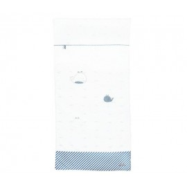 Edredon 60X120 cm Blue Baleine