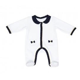 Pyjama Velours Blanc fille 1 mois Hello