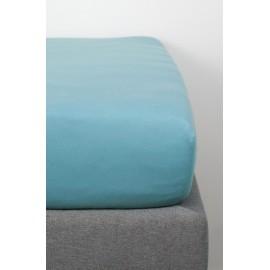Drap house coton bio 70x140 bleu vintage