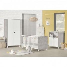 Chambre complète Scandi gris