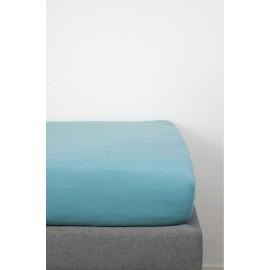 Drap housse Coton Bio 60 x 120 Bleu Vintage