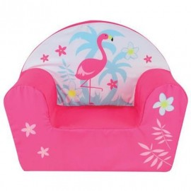 Fauteuil Club Flamant Rose