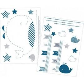 Stickers Muraux Blue Baleine
