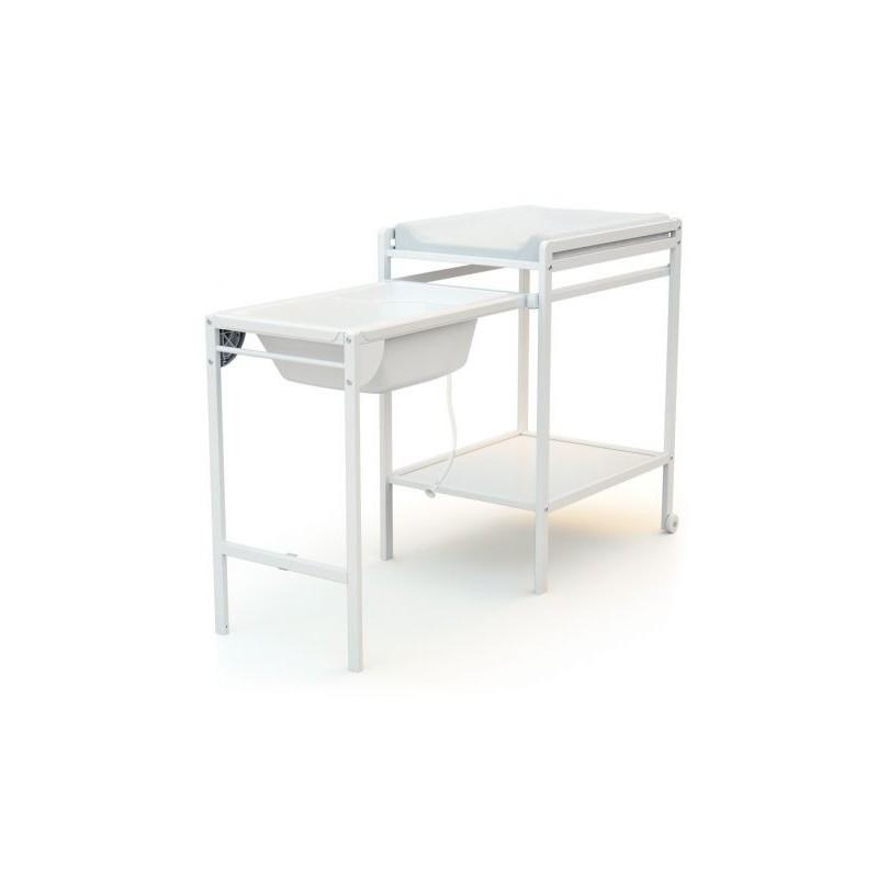 Table à Langer Avec Baignoire ESSENTIEL Blanc