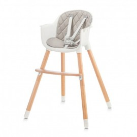 Chaise Haute Sienna 2 en 1 Grey/Hêtre